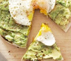 Avo and Egg Pizza