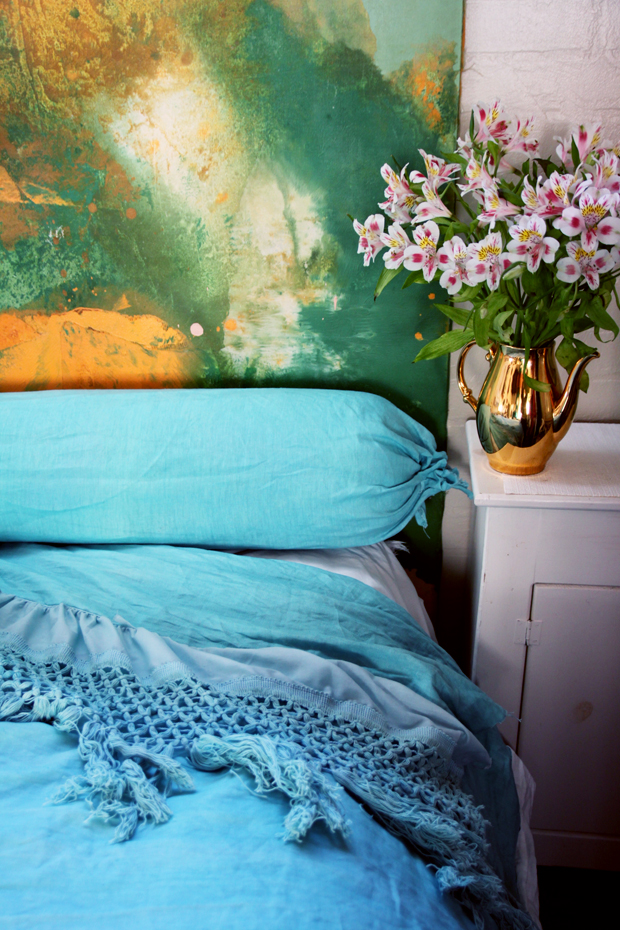 DIY linen bedding by Justina Blakeney