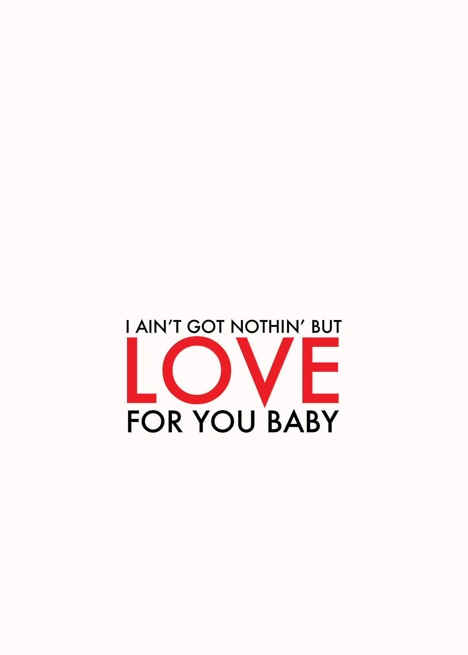 Nothin But Love (Free Printable)