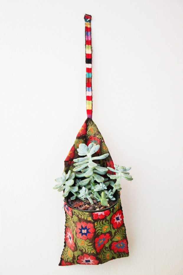 Clothespin Bag Planter
