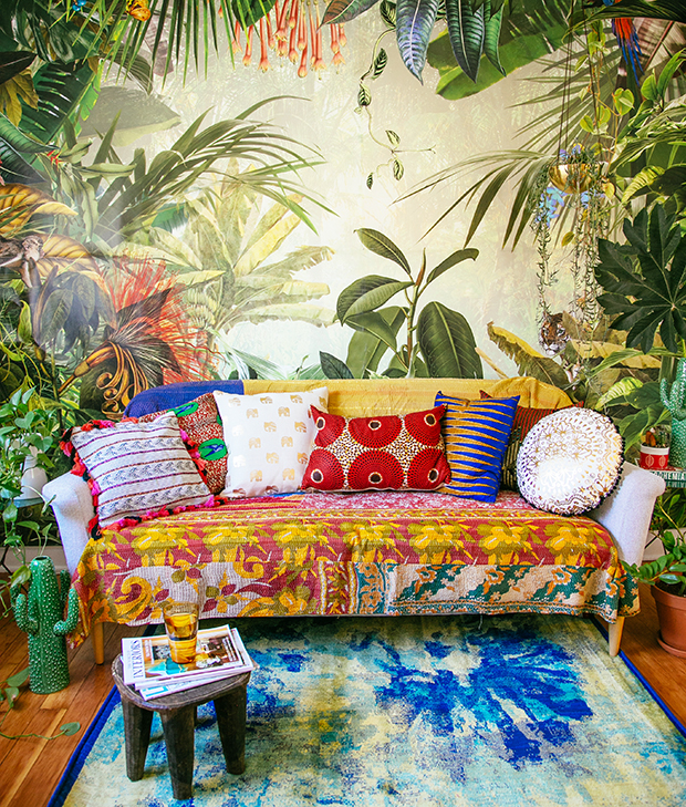 Create an indoor oasis with Fab   The Junhgalow by Justina Blakeney #FabXTheJungalow