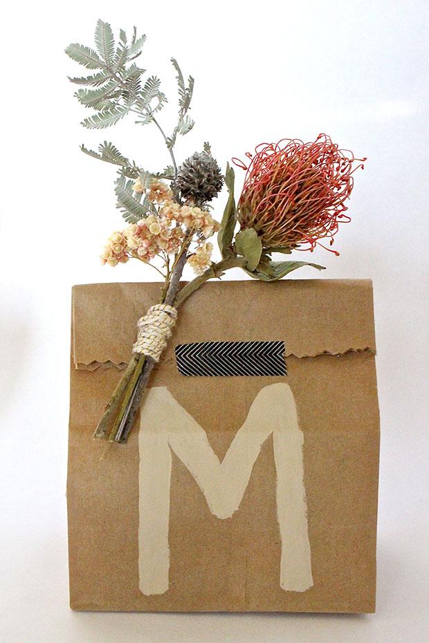 Melanie's DIY Brown Paper Bag Gift-Wrap. | The Jungalow