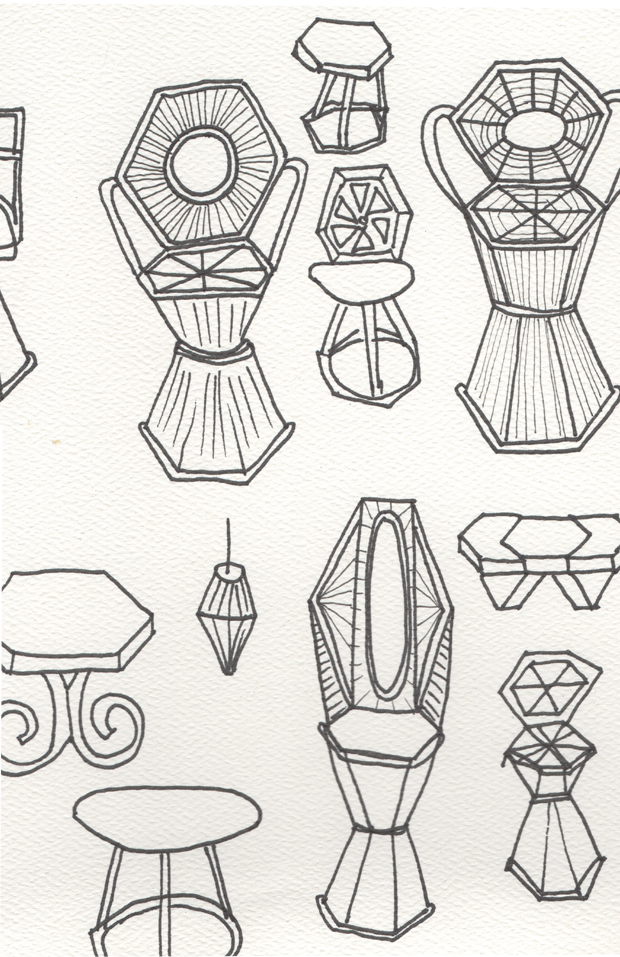 Sketches of Chairs by Justina Blakeney