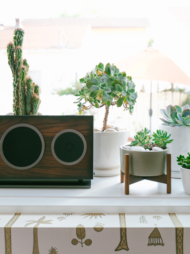 House of Marley speaker and plants