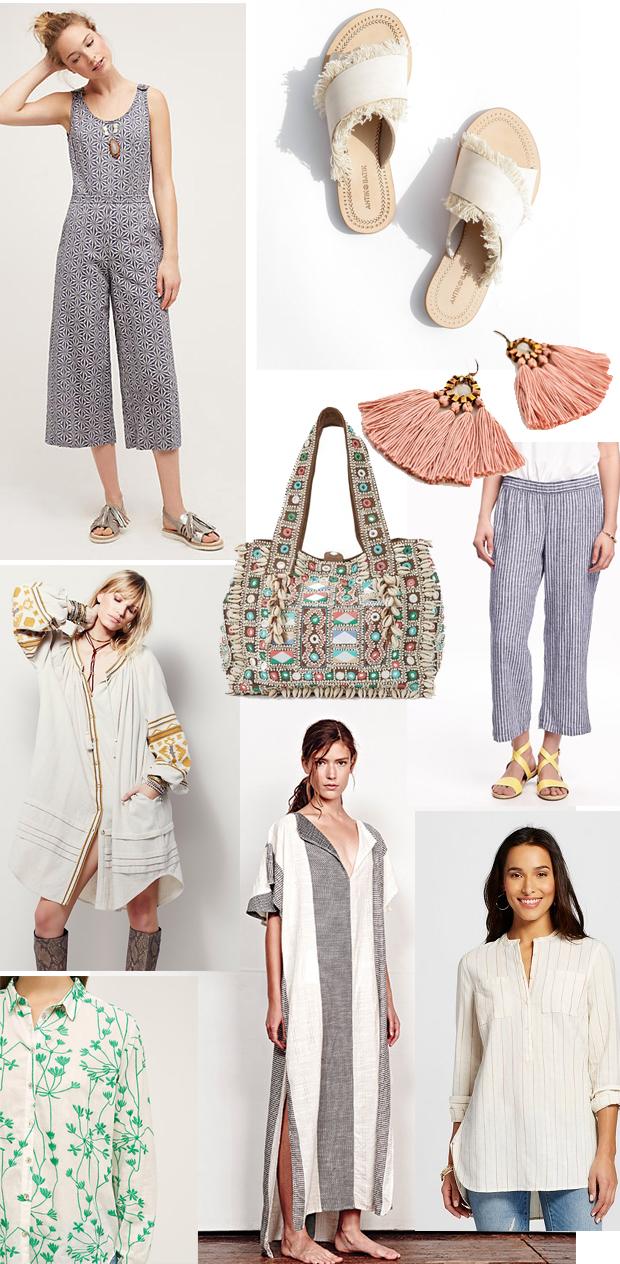 boho summer fashion roundup