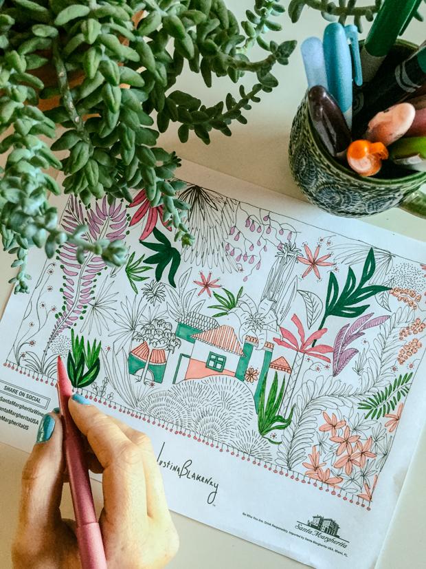 Coloring Page Santa Margherita