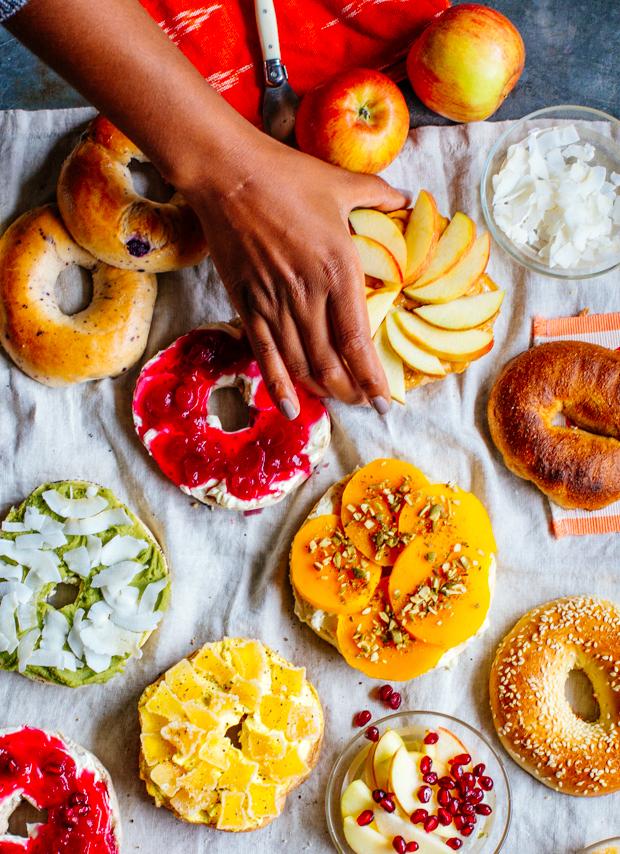 Jungalow Eats Sweet Sweet Bagel Breakfast Justina Blakeney