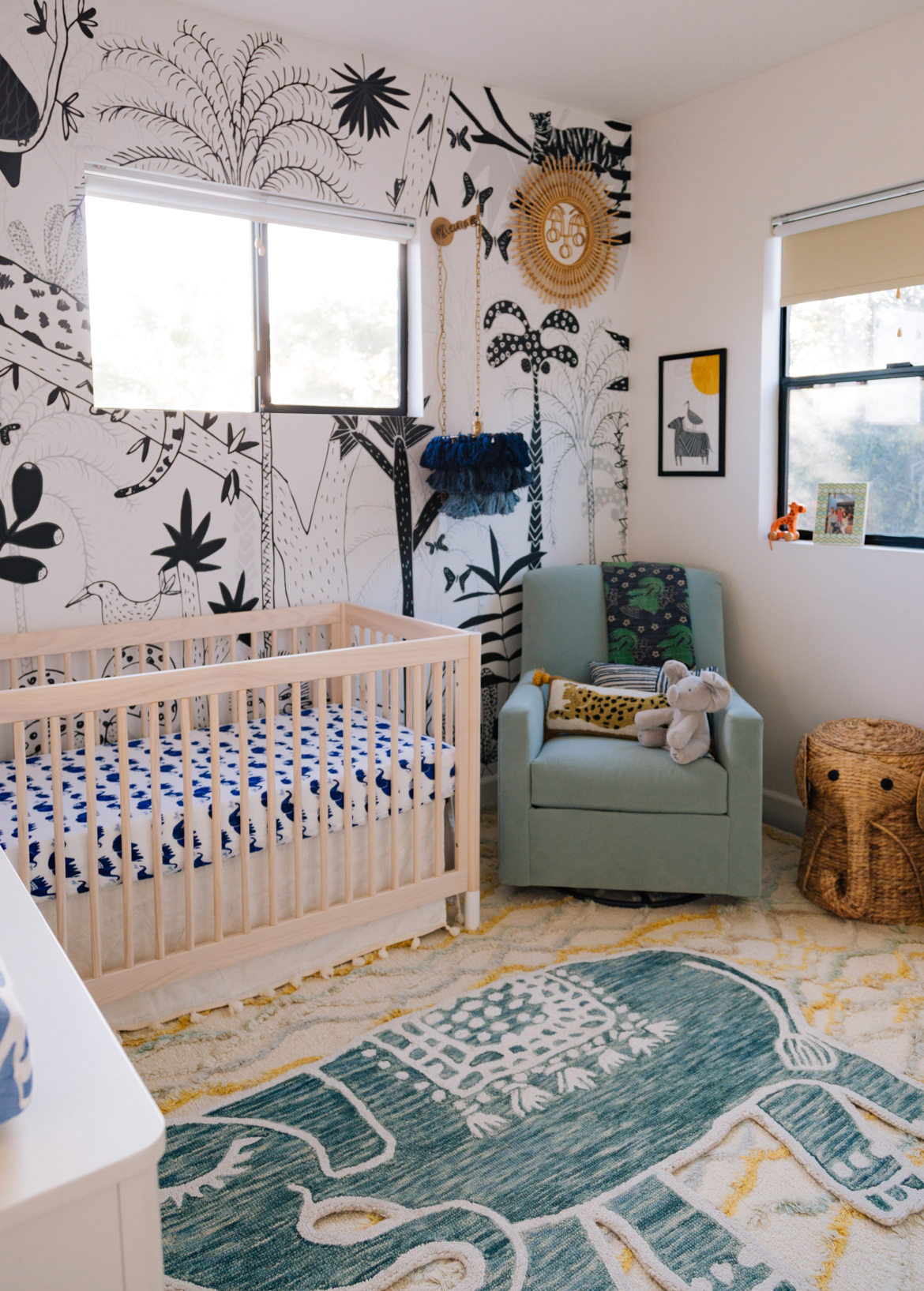 A Modern Boho Jungle Nursery For Baby Chase | Justina Blakeney