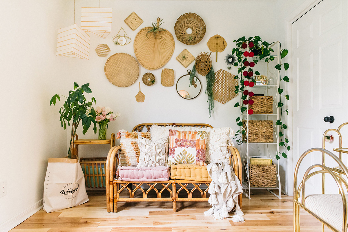 #thekwendyhome lounge basket wall